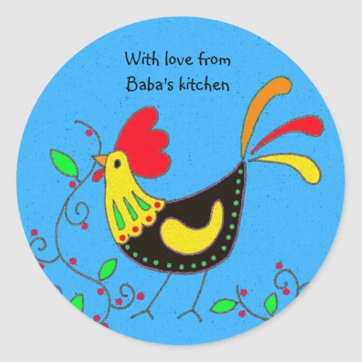With Love From Baba's Kitchen Classic Round Sticker