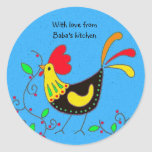 With Love From Baba's Kitchen Round Stickers