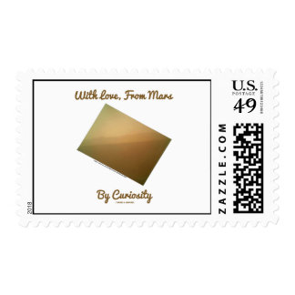 With Love, From Mars By Curiosity (Landscape) Postage