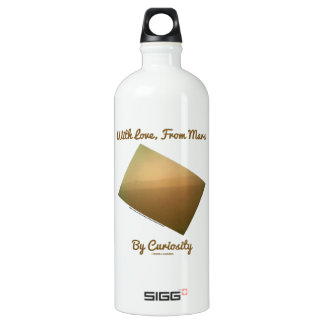 With Love, From Mars By Curiosity (Mars Landscape) Aluminum Water Bottle