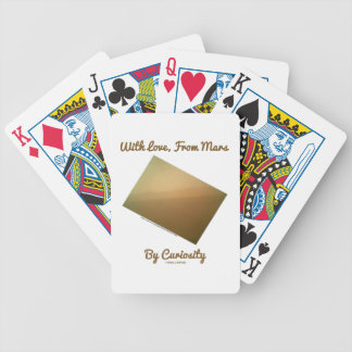 With Love, From Mars By Curiosity (Mars Landscape) Bicycle Playing Cards