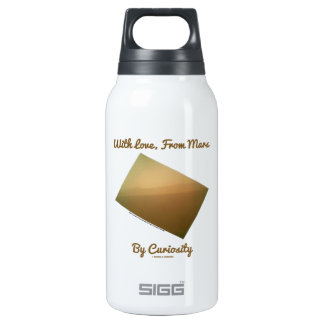 With Love, From Mars By Curiosity (Mars Landscape) Insulated Water Bottle