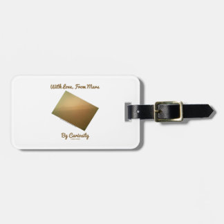 With Love, From Mars By Curiosity (Mars Landscape) Luggage Tag