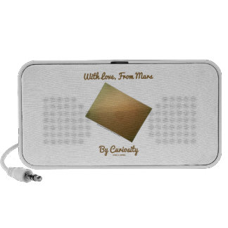 With Love From Mars By Curiosity Mars Landscape Laptop Speakers