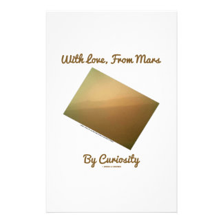 With Love, From Mars By Curiosity (Mars Landscape) Stationery