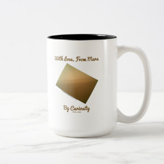 With Love, From Mars By Curiosity (Mars Landscape) Two-Tone Coffee Mug