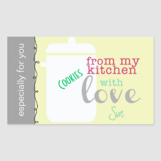 With Love From My Kitchen Signature Gift Labels Rectangular Sticker