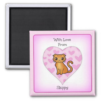 With Love from Skippy 2 Inch Square Magnet