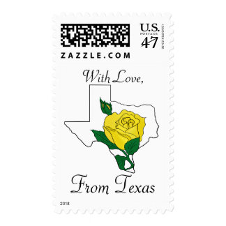 With Love, From Texas Postage Stamp