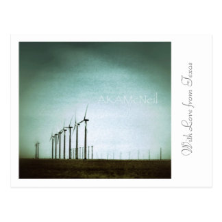 With Love from Texas - Wind Farming Postcard