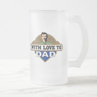 With Love Frosted Glass Beer Mug