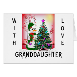 With Love Granddaughter Card