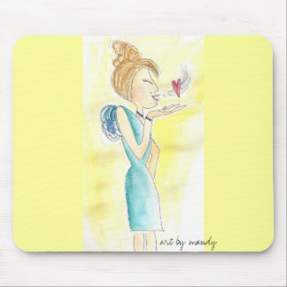 with love mouse pad