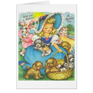 With Love on Mother's Day! Retro Mother's Day Card