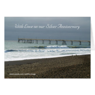 With Love on our Silver Anniversary Greeting Card