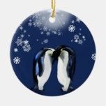 with love Double-Sided ceramic round christmas ornament
