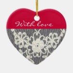 with love. .ornament