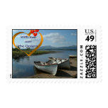 With love over the Oceans Postage Stamp