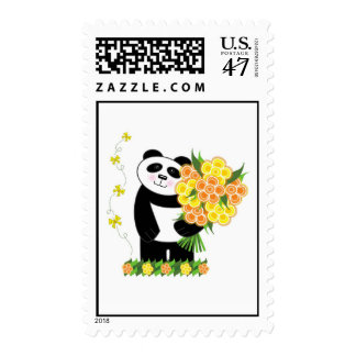 With Love Panda Postage Stamps