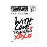 With Love, Philadelphia XOXO® postage (small)
