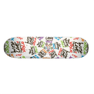 'With Love' radial repeat Skateboard