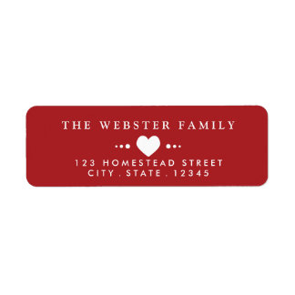 With Love Red Return Address Label
