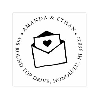 With Love | Return Address Self-inking Stamp