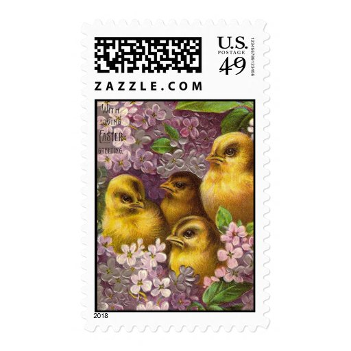 With Loving Easter Greeting Postage Stamp