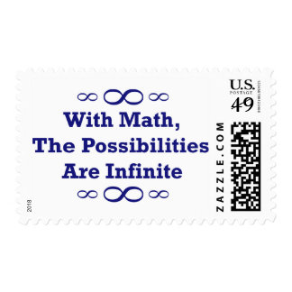 With Math, The Possibilities Are Infinite Stamps