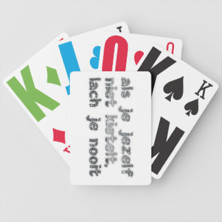 With moderation… bicycle playing cards