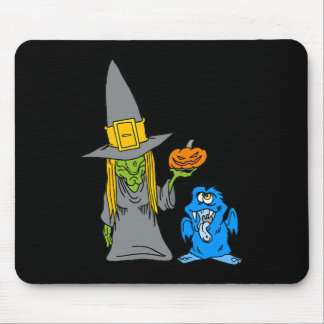 With Monster Pumpkin Mousepads