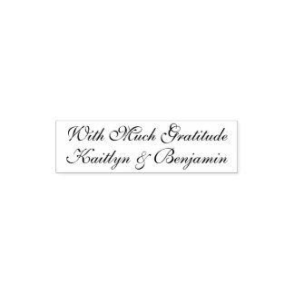 With Much Gratitude   Editable, Elaborate Script Self-inking Stamp