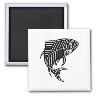 WITH MUCH RESPECT 2 INCH SQUARE MAGNET
