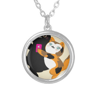 With My Bae Basic Cats Silver Plated Necklace