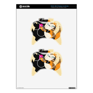 With My Bae Basic Cats Xbox 360 Controller Skin