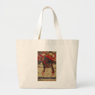 with my eyes closed large tote bag