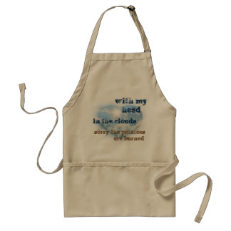 With my head in the clouds adult apron