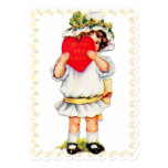 """With My Love"" Vintage Valentine - Flat Card"