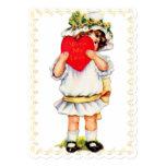 """With My Love"" Vintage Valentine - Flat Card 5"" X 7"" Invitation Card"