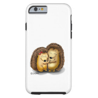 with name - Hugging Hedgehogs Tough iPhone 6 Case