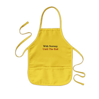 With Norway Until The End Kids' Apron