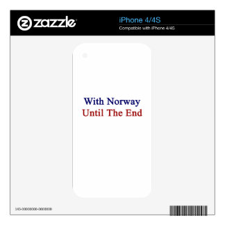 With Norway Until The End Decals For The iPhone 4