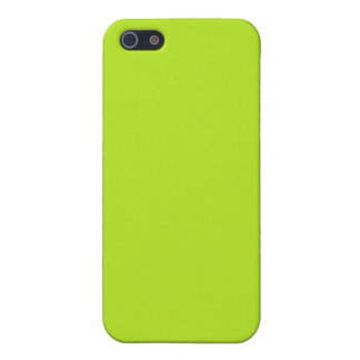 With Nothing On It Except Color Bright Neon Green iPhone 5 Case