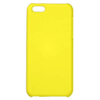 With Nothing On It Except Color - Bright Yellow iPhone 5C Cases