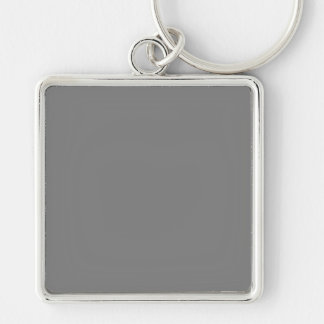 With Nothing On It Except Color - Dark Gray Keychain
