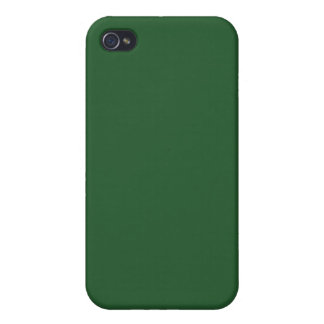 With Nothing On It Except Color - Forest Green iPhone 4/4S Covers