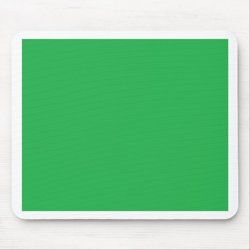 With Nothing On It Except Color - Green Mouse Pad