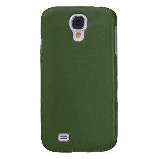 With Nothing On It Except Color - Olive Green Galaxy S4 Case