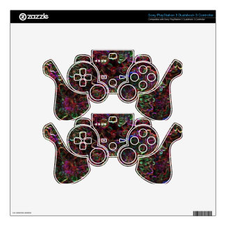 With other eyes watched flowers 6 skin for PS3 controller