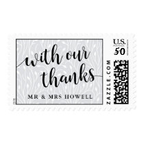With our Thanks | Wedding Thank You Postage